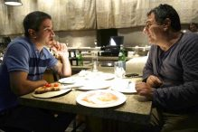 "Chef Michael Solomonov (left) and chef Haim Cohen at Cohen's restaurant Yaffo Tel-Aviv in ""In Search of Israeli Cuisine."" (FLORENTINE FILMS-SHERMAN PICTURES)"
