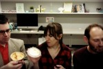 Hummus tasters Jesse Ulrich, Ashley Jacobs and Harris Rollinger, from left.