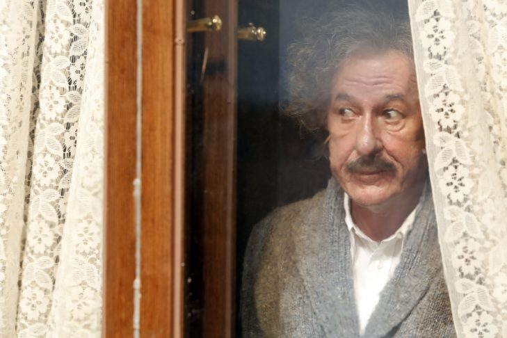 "Geoffrey Rush stars as Albert Einstein in National Geographic's ""Genius"" (National Geographic/Dusan Martincek)"