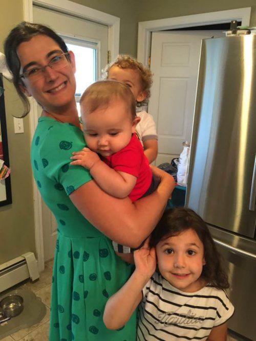 Michele with her three children