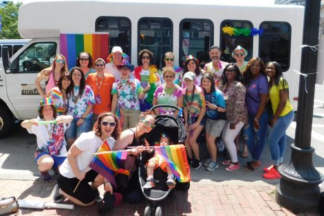 Hebrew SeniorLife staff, residents, and supporters at the Boston Pride Parade 2017