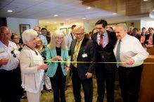 From left: Gilda Richman, CJL Chairman of the Board; Betsy Mullen, CJL Chief Operating Officer; Ed Stewart, Chelsea Jewish Nursing Home Executive Director; Adam Berman, CJL President; and Barry Berman, CJL CEO.
