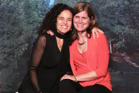 Rabbi Mychal Copeland, left, and her wife