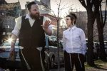 "Menashe Lustig, left, and Ruben Niborski in the film ""Menashe."" (Federica Valabrega/A24)"