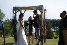 Rabbi Jillian Cameron officiates a recent wedding (Courtesy Jillian Cameron)