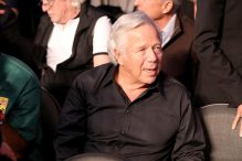 Robert Kraft attended the Mayweather-McGregor fight in Las Vegas Saturday. (Christian Petersen/Getty Images)