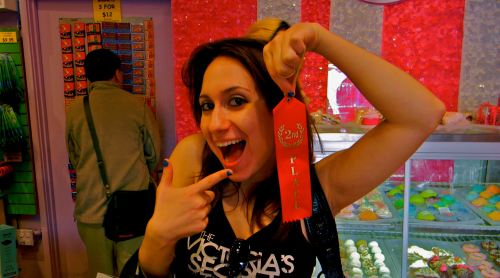 Me in Lefty's, pictured with the second-place ribbon, because I'm not that person. (Photo: Sergio Ruiz Tello)