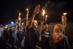 Several hundred white nationalists and white supremacists carrying torches marched through the University of Virginia campus on August 11. (EVELYN HOCKSTEIN FOR THE WASHINGTON POST)