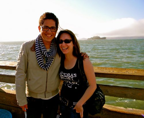 Sergio and me at Pier 39 before heading into Lefty's. (Note how I'm on his left!)