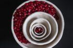 """Ripple Bowls"" (porcelain ceramics) by Shirah Rubin (Photo: Dinner Geeks)"
