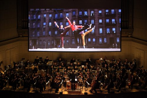 "Conductor David Newman led the BSO in Leonard Bernstein's ""West Side Story"" at Symphony Hall on Feb. 14, 2014 (Hilary Scott/Courtesy Boston Symphony Orchestra)"