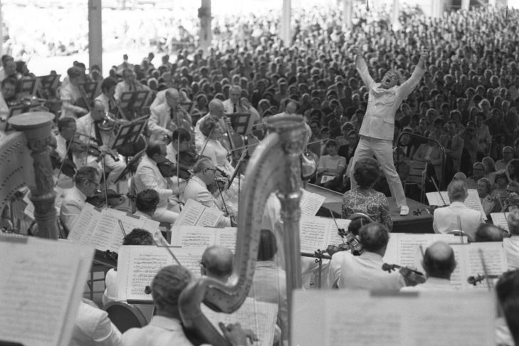 Leonard Bernstein conducting (Courtesy Boston Symphony Orchestra)