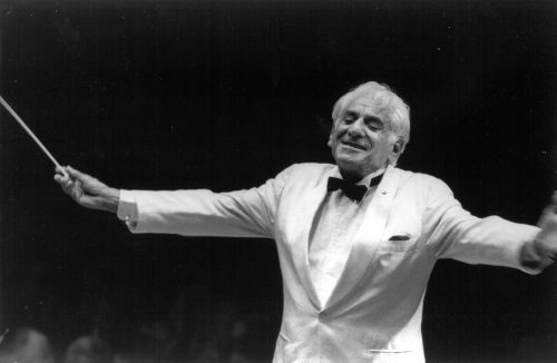 Leonard Bernstein's final concert at Tanglewood in 1990 (Photo by Walter H. Scott/Courtesy Boston Symphony Orchestra)