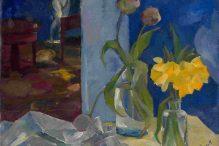"""""""Still Life in Blue Room"""" by Boris Anisfeld (1916)"""