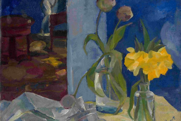 """Still Life in Blue Room"" by Boris Anisfeld (1916)"