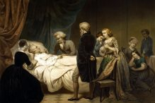 Washington on his Deathbed by Junius Brutus Stearns(1851)