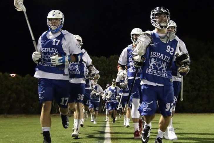 The Israel men's national team in the U.S. in early October (Photo: Israel Lacrosse)