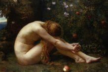 """Eve"" by Anna Lea Merritt (1844-1930)"
