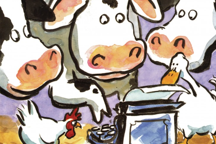 """""""Click, Clack, Moo: Cows That Type"""" by Doreen Cronin"""