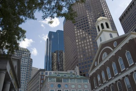 Downtown Boston image via Shutterstock.com