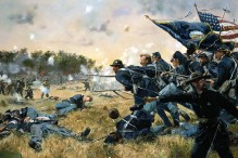 Attack of the 1st Minnesota at Gettysburg (Painting by Don Troiani, courtesy of The National Guard)