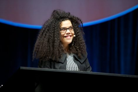 April Baskin at the URJ Biennial 2017 (Courtesy Union for Reform Judaism)