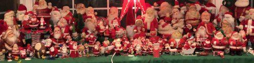 Jake's mom's Santa collection (Photo: Jake McDowell)