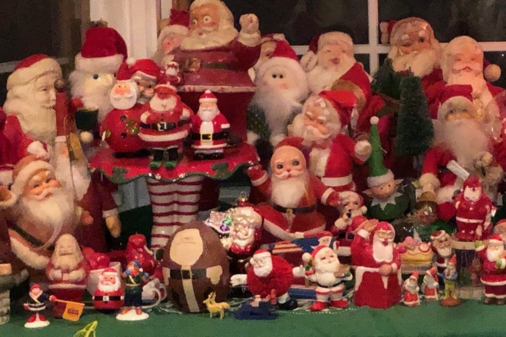 Jake's mom's Santa collection (Photo: Jake McDowell)