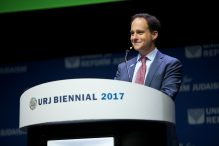 Rabbi Jonah Dov Pesner at the URJ Biennial 2017 (Courtesy Union for Reform Judaism)