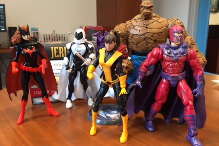 Jeremy Burton's superhero figures collection (Courtesy photo)