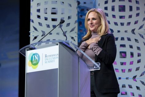Marlee Matlin at the 2017 Ruderman Inclusion Summit (Courtesy Ruderman Family Foundation)