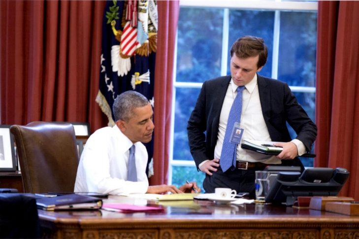 President Obama with speechwriter David Litt (Courtesy photo)