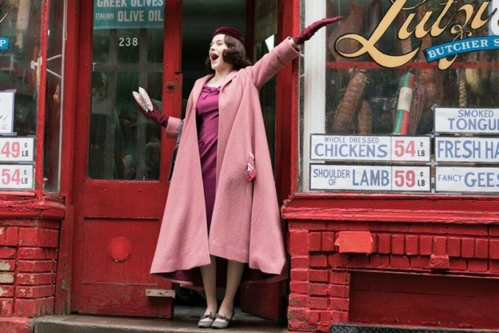 "Rachel Brosnahan in ""The Marvelous Mrs. Maisel"" (Promotional still)"