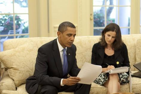 President Barack Obama and Sarah Hurwitz (Photo: Pete Souza/White House)