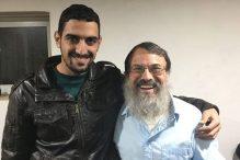 Shadi Abu Awwad, left, and Rabbi Hanan Schlesinger (Courtesy photo)