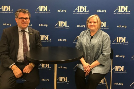 Activist Judy Shepard and ADL New England regional director Robert Trestan (Courtesy ADL)