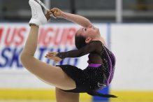 Aimee Buchanan of Israel competes in the ladies short program at the U.S. International Figure Skating Classic -Day 2 at the Salt Lake City Sports Complex on September 16, 2016 in Salt Lake City, Utah.