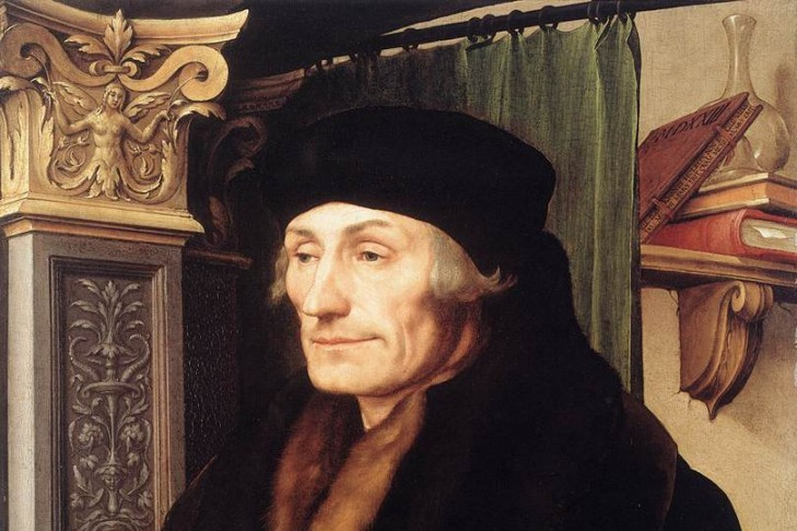 Portrait of Erasmus of Rotterdam by Hans Holbein the Younger (1523)