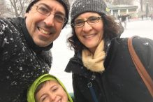 Holly Rossi with her husband and son (Courtesy photo)
