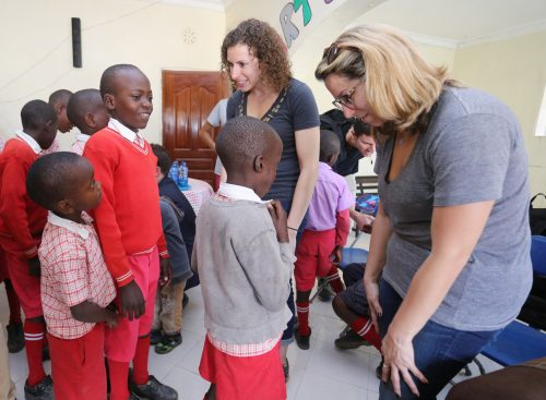 Meeting with the children at St. Ann's Baby and Children's Home (Courtesy photo)