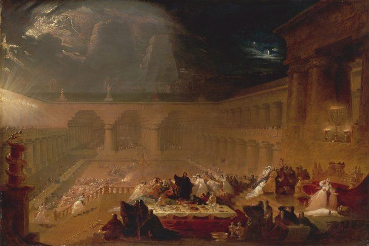 Belshazzar's Feast from the Book of Daniel (oil on canvas, John Martin, 1820)