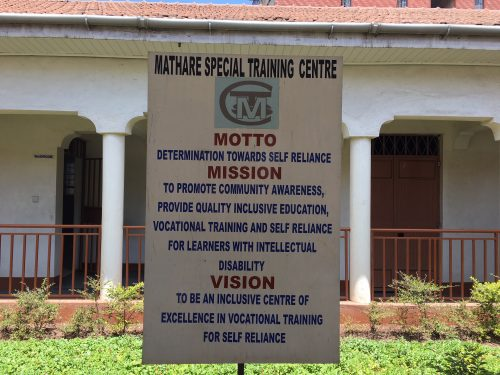 Mission sign at Mathare Special Training Center (Courtesy photo)