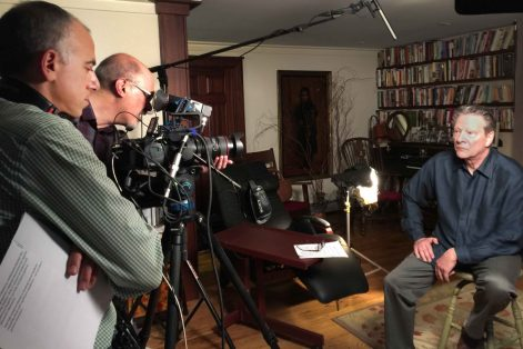 """Actor Chris Cooper being recorded for """"Intelligent Lives"""" (Promotional still)"""