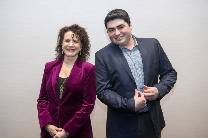 Susie Essman and CJP's Jeremy Brick (Photo: Billie Weiss)