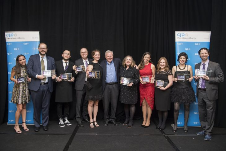 The 2018 honorees with CJP president Barry Shrage (Photo: Billie Weiss)