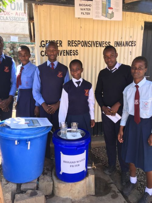 The water team at Joel Omino Secondary School (Courtesy photo)