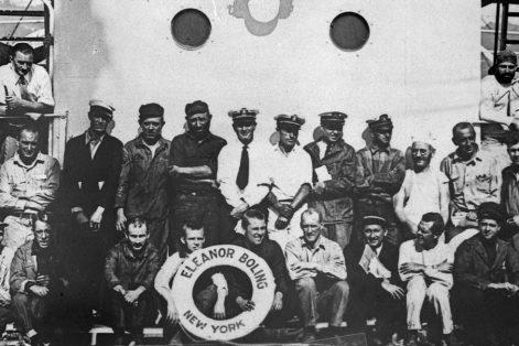 Billy Gawronski, seated front in black shirt (Courtesy Gizela Gawronski/Jósef Piłsudski Institute of America)