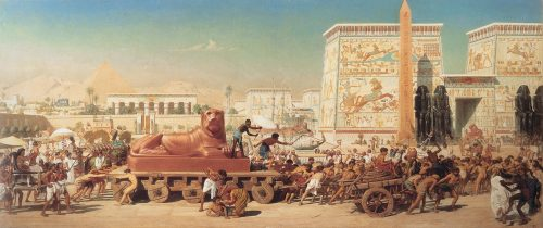 """Israel in Egypt""Edward John Poynter"