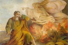 """""""God Appears to Moses in Burning Bush"""" by Eugene Pluchart"""