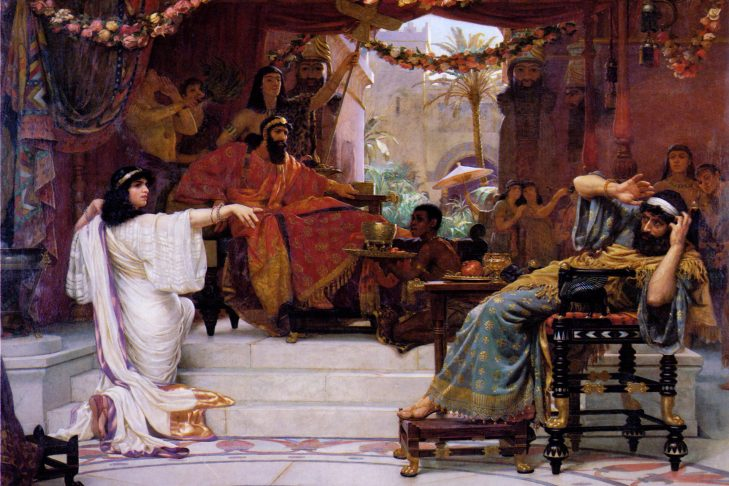 """""""Esther Denouncing Haman"""" (1888) by Ernest Normand"""
